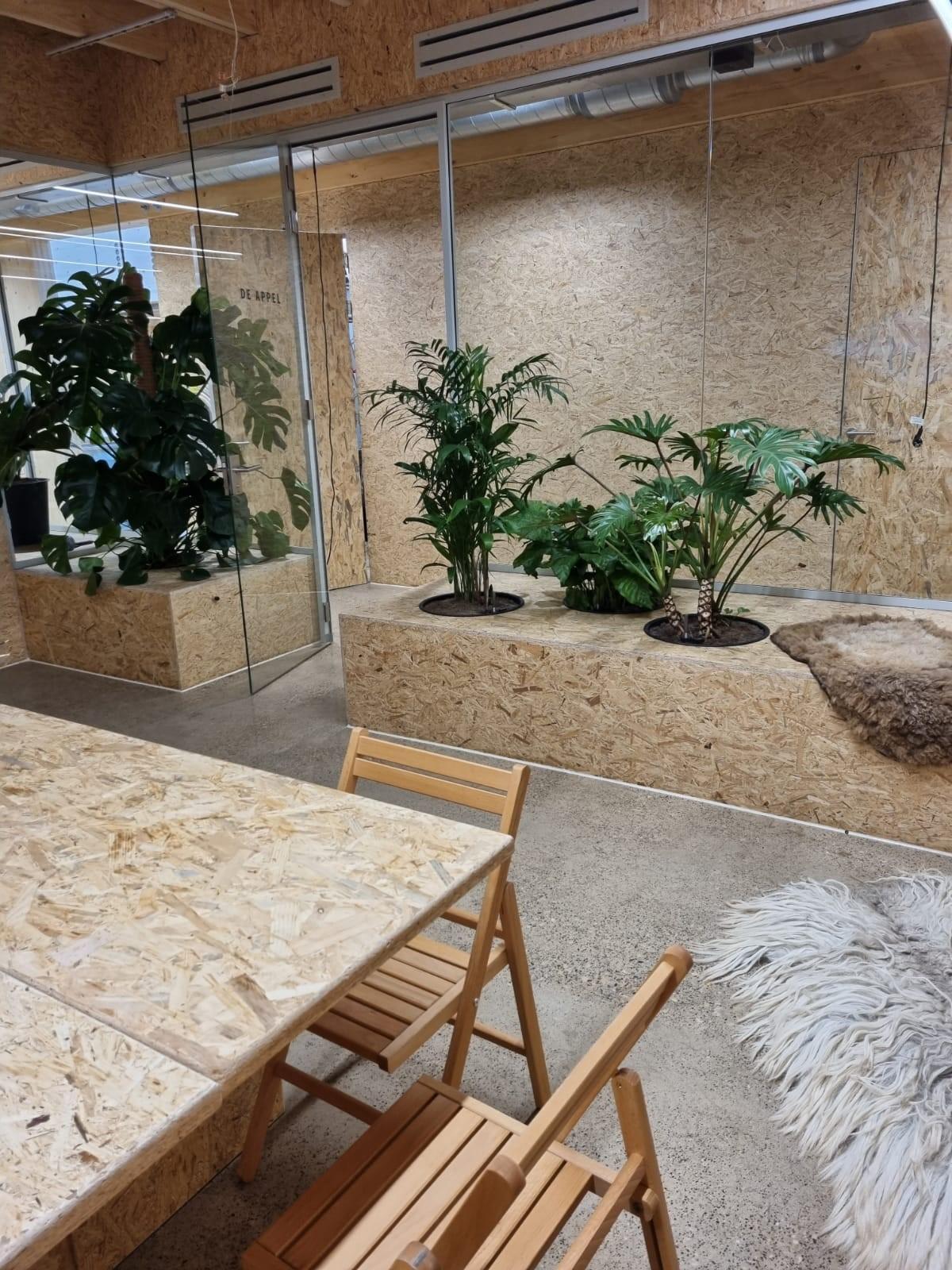 Zicht op planten in zaal De Appel - Food Forum